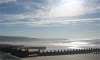Barmouth's beautiful sandy beach, near Tyddyn Mawr Bed & Breakfast