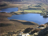 Lake Gregenan - ideal for fishing near Tyddyn Mawr Farmhouse Bed & Breakfast